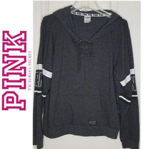 PINK VICTORIA'S SECRET - Hoodie Pullover - L